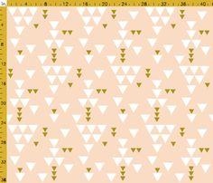 Fitted Crib Sheet Blush Gold Triangle Fall- Blush Crib Sheet- Gold Crib Sheet- Pink and Gold Fitted Sheet- Blush Crib Bedding- Baby Bedding Toddler Sheets, Baby Sheets, Toddler Quilt, Pillowcase Pattern, Triangle Design, Triangle Print, Blush And Gold, Kona Cotton, Custom Fabric