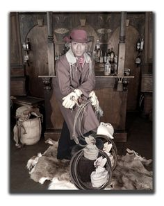 Red Hat Cowboy - photo taken by Miss Purdy's Old Time Photos serving the entire State of Texas!