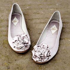 silver ruffle ballet flats