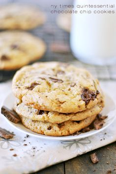 NY Times Quintessential Chocolate Chip Cookies - If you're serious about chocolate, these are the cookies for you! Full of decadent melted chocolate and a buttery, chewy cookie. - Something Swanky