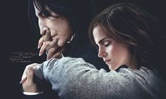 Severus Snape and Hermione Granger Snape And Hermione, Snape And Lily, Harry Potter Severus Snape, Severus Rogue, Harry Potter Ships, Harry James Potter, Harry Potter Film, Harry Potter Fan Art, Harry Potter Universal