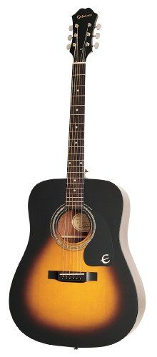 Epiphone DR-100 Acoustic Guitar, Vintage Sunburst Epiphone http://www.amazon.com/dp/B0002F7IV2/ref=cm_sw_r_pi_dp_j8xPub1NNJACV. I WANT TO TAKE UP PLAYING GUITAR!