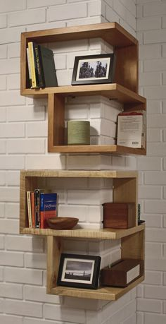 A wrap around shelf is a creative way to display your favorite books!