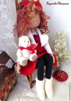 Коллекционные куклы ручной работы. Ярмарка Мастеров - ручная работа Малышка с белым мишкой. Handmade.