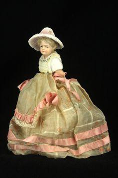Antique RARE German Snowed Half Doll Candy Container Ca1910   eBay