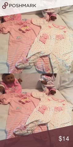 L/S with legs & footsies!just reduced for you! EUC too cute all-in-ones. Buy together or separately Sue Dreamer & Child of mine One Pieces