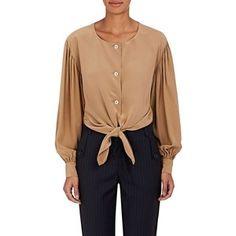 Robert Rodriguez Women's Silk Tie-Front Blouse