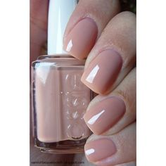 ESSIE Nail Polish - 'Not Just A Pretty' face (nude/beige) -Shiny and... ❤ liked on Polyvore featuring beauty products, nail care, nail polish, nails, glossy nail polish, essie, essie nail color and essie nail polish