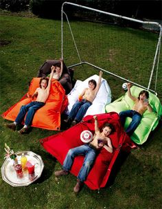 Puf Buggle-up de Fatboy. Another version of bean bag furniture - a bit more sophisticated.