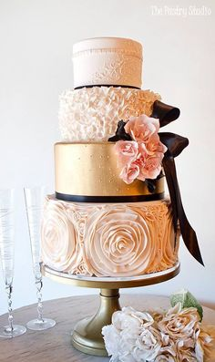 Beautiful Wedding Cakes With Roses Classic Wedding Cake Recipe Wedding Cakes With Flowers, Cool Wedding Cakes, Elegant Wedding Cakes, Beautiful Wedding Cakes, Wedding Cake Designs, Wedding Cake Toppers, Beautiful Cakes, Elegant Cakes, Flower Cakes