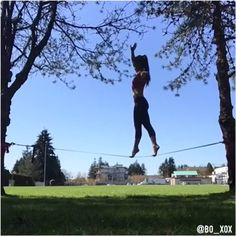 Core Workout: Tip Toe Walking on the Slackline  #Slackline #fitness #exercise #coreworkout #strong #strength #balance #flexibility #stretch #femalecalisthenics #calisthenics #circus #acrobatics #acroyoga #fitnessmotivation #traininsane  #fitgirlvideo @fit