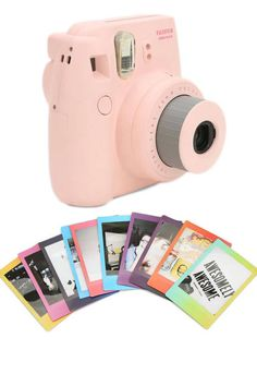 Fujifilm Instax Mini 8 Instant Camera, $100 ; urbanoutfitters.com Fujifilm Iinstax Mini Rainbow Film, $18; urbanoutfitters.com