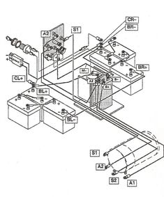 yamaha g2 electric golf cart wiring diagram golf cart wiring rh pinterest com Yamaha G16 Wiring -Diagram Yamaha G9 Golf Cart Info