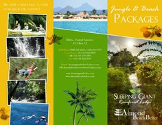 SLPEEPING GIANT AND ALMOND BEACH BROCHURE (outside): If you are interested in getting a custom design, printing or just want to know more about TAS Belize, contact us.. (501) 822-0011 / (501) 637-4921 / info@tasbelize.com / www.tasbelize.com