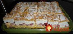 Nestrácajte čas s každým kúskom zvlášť, toto máte hotové naraz a chuť fantastická: Veterník na plechu – pre našu rodinu najlepší zákusok na svete! Cake Cookies, Sweet Recipes, Waffles, Cheesecake, Deserts, Food And Drink, Cooking Recipes, Sweets, Dishes