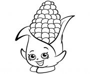 Exclusive Corny Cob Shopkins Season 2 Coloring Pages Printable And Book To Print For Free Find More Online Kids Adults Of
