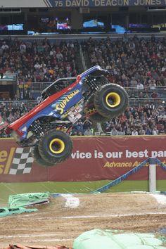 Superman Monster Truck flying again