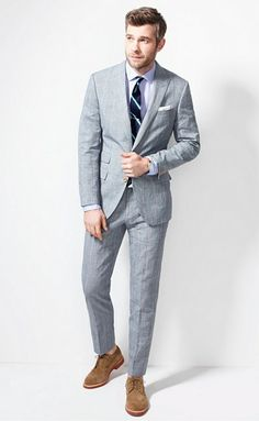 Dig the texture to this plaid suit! The Ludlow Shop