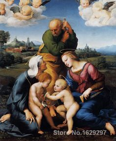 Canigiani Holy Family by Raphael sanzio Canvas art Painting High quality Hand painted