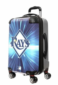 """Tampa Bay Rays, 21"""" Clear Poly Carry-On Luggage by Kaybull"""