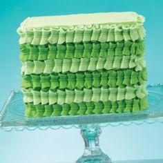 Green Leaf Tip Square Cake