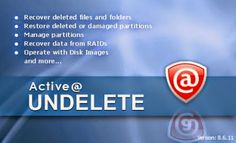 Active Undelete 10 Professional Serial Key Full is a best along with useful software that commonly used to recover lost or deleted data from your system. So this data recovery software fully supports you to recover undelete files as well as removed partitions.