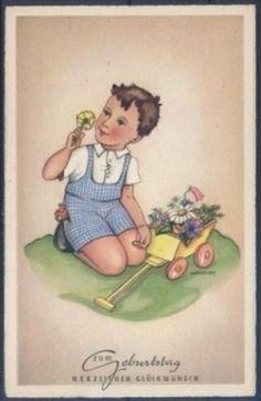 Künstlerkarte - Kerckhoff - Geburtstag ( K00831 ), Briefmarken-Versand-Welt - Briefmarken, Ansichtskarten und mehr