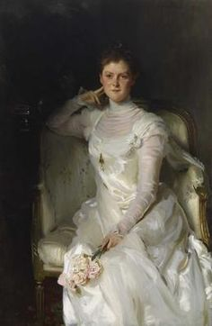 Mrs. Joshua Montgomery Sears (Sarah Choate Sears) - Oil On Canvas, By John Singer Sargent   c.1899