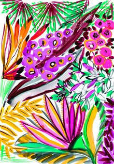 """Trends : The flora and fauna of these invented tropics inspire a whimsical and abundant """"exochic"""" that dares the mythical harmonies of exceptional. (#596833)"""