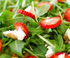 Strawberry, Goat Cheese & Arugula Salad