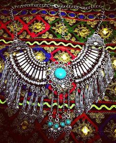 Vintage Necklace Turquoise / OOAK