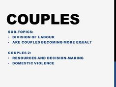 AQA ['15] Sociology- F&H - Couples