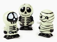 Glow-In-The-Dark Skeleton And Mummy Wind-Ups - I have the middle one!