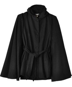 This would be perfection in winter. Black Wool Trench Cape by Samantha Pleet.