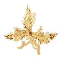 Gold Leaf Brooch, Tiffany & Co., Schlumberger   18 kt., signed Tiffany & Co., Schlumberger Studios