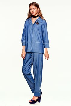 A denim style pajama pair set from the CASTRO 2016 Jeans Symphony Collection