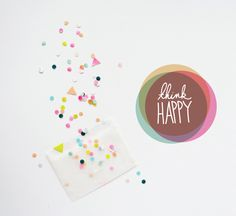 confetti, decor8, triangles, circles, being happy, fighting bad moods