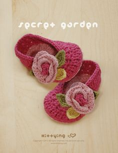 Secret Garden Ballerina Crochet PATTERN by kittying.com from mulu.us | This pattern includes sizes for 0 - 12 months.