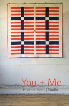 Items similar to You + Me, a PDF modern quilt pattern in two sizes, by Heather Jones on Etsy Quilting Thread, Quilting Rulers, Quilting Tips, Machine Quilting, Quilting Designs, Patchwork Quilting, Quilting Patterns, Quilting Tutorials, Quilting Projects