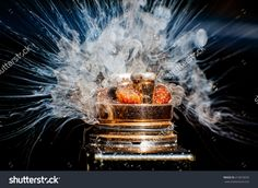The Burning Of Big Electric Cigarette Stock Photo 414018292 : Shutterstock