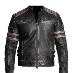 Antique Black Vintage Retro Distressed Leather Jacket Distressed Leather Jacket, Vintage Leather Jacket, Biker Leather, Real Leather, Black Leather, Motorcycle Leather, Sheep Leather, Leather Skin, Cowhide Leather
