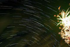 Star trails vs firework by nooreva.deviantart.com on @deviantART