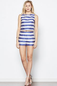 Nautical Notion Striped Cropped Top