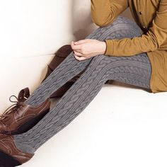 Cable-Knit Tights