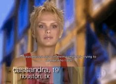 """When Cassandra from Cycle 5 quit the competition because she didn't want to cut an inch more of her hair.   29 Of The Most Ridiculous Moments In """"America's Next Top Model"""" History  @peegang this is Stephen Amell's wife."""
