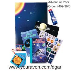 NEW! Ready, set, explore! This set has everything you need to get going on your next out of space adventure! https://www.avon.com/product/adventure-pack-57143?rep=dgari&utm_content=buffer56ad1&utm_medium=social&utm_source=pinterest.com&utm_campaign=buffer $19.99 #space #adventure #toys #avon #holiday #gift