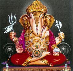 Lord Ganesha (Reprint on Card Paper - Unframed) Ganesha Painting, Ganesha Art, Lord Ganesha, Lord Shiva, Clay Ganesha, Shri Ganesh Images, Ganesh Chaturthi Images, Ganesha Pictures, Dagdusheth Ganpati