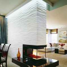 3 Sided Fireplace Design Ideas, Pictures, Remodel, and Decor - page 4