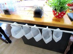 Sew Many Ways...: Tool Time Tuesday...Recycled Milk Cartons For Storage. Love the idea of using these for fabric.