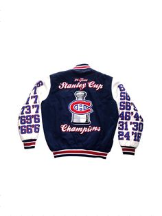 1990 s Montreal Canadiens Stanley Cup Champions Limited Edition Quilted  Jacket By Apex One by IllGottenGains on e749b1b01